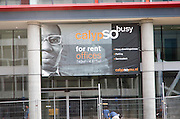 Image of a Afro Caribbean man used in advertising office space for rent in the Calypso development, central Rotterdam, Netherlands