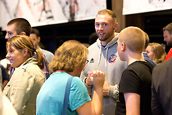Guests chat with players from the Bristol Flyers players - Mandatory by-line: Robbie Stephenson/JMP - 12/09/2016 - BASKETBALL - Ashton Gate Stadium - Bristol, England - Bristol Flyers Sponsors Event