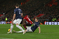 Football - 2018 / 2019 Premier League - Southampton vs. Manchester United<br /> <br /> A big penalty appeal as Scott McTominay of Manchester United appears to pull Southampton's Michael Obafemi at St Mary's Stadium Southampton<br /> <br /> COLORSPORT/SHAUN BOGGUST