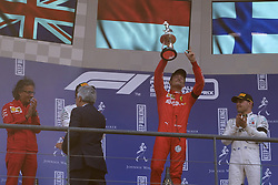 September 1, 2019, Spa Francorchamps, Belgium: Ferrari Driver CHARLES LECLERC (MC) dedicates victory to French driver F2 ANTHOINE HUBERT dies during Formula 2 race Saturday 30 August..Charles Leclerc wins his first Formula One Grand Prix (Credit Image: © Pierre Stevenin/ZUMA Wire)