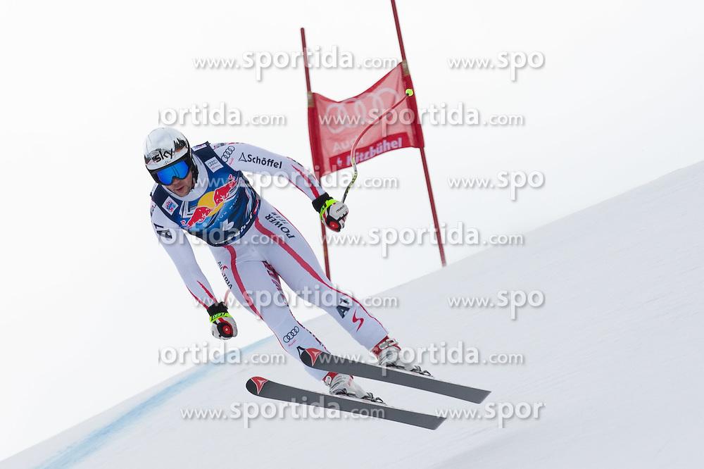 17.01.2012, Hahnenkamm, Kitzbuehel, AUT, FIS Weltcup Ski Alpin, 72. Hahnenkammrennen, Herren, Abfahrt 1. Training, im Bild Mario Scheiber (AUT) // Mario Scheiber of Austria during 1st practice Downhill of 72th Hahnenkammrace of FIS Ski Alpine World Cup at 'Streif' course in Kitzbuhel, Austria on 2012/01/17. EXPA Pictures © 2012, PhotoCredit: EXPA/ Johann Groder