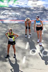 Des Linden, Pashley, Kellyn Taylor<br /> TCS New York City Marathon 2019