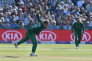 Fahim Ashraf of Pakistan bowling during the third Royal London One Day International match between England and Pakistan at the Bristol County Ground, Bristol, United Kingdom on 14 May 2019.