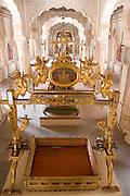 India, Rajasthan, Jodhpur, Mehrangarh fort A baby crib for the Maharaja's baby