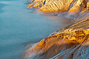 Sandstone at Pictured Rocks National Lakeshore, Lake Superior, Alger County, Michigan