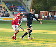 Dundee&rsquo;s Craig Wighton holds off Brechin's trialist midfielder - Brechin City v Dundee pre-season friendly at Glebe Park, Brechin, <br /> <br /> <br />  - &copy; David Young - www.davidyoungphoto.co.uk - email: davidyoungphoto@gmail.com