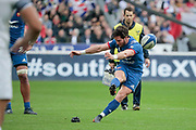 Maxime Machenaud (FRA) scored the penalty during the NatWest 6 Nations 2018 rugby union match between France and England on March 10, 2018 at Stade de France in Saint-Denis, France - Photo Stephane Allaman / ProSportsImages / DPPI