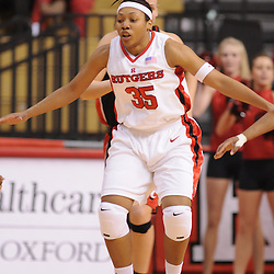 Feb 24, 2009; Piscataway, NJ, USA; Rutgers guard Brittany Ray (35) sets up on defense during the second half of Rutgers' 71-52 victory over Cincinnati at the Louis Brown Athletic Center.