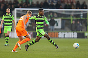 Forest Green Rovers Dale Bennett(6) passes the ball during the Vanarama National League match between Forest Green Rovers and Braintree Town at the New Lawn, Forest Green, United Kingdom on 21 January 2017. Photo by Shane Healey.