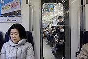 passengers during a commuting nap Japan