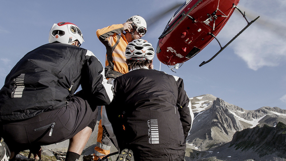 Rider: Tobias Woggon and Fabien Barel <br /> Location: Lenzerheide (Switzerland)