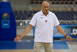 Coach of Lithuania Ramunas Butautas  during the practice session, on September 11, 2009 in Arena Lodz, Hala Sportowa, Lodz, Poland.  (Photo by Vid Ponikvar / Sportida)