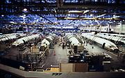 Boeing 737 Aircraft airframe assembly in Wichita, Kansas.