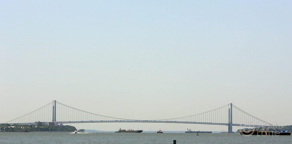 A view of the Verrazano-Narrows Bridge in New York Harbor in New York, New York on 21 June 2007. The bridge, which was completed in 1964 and connects the boroughs of Brooklyn and Staten Island, is the longest suspension bridge in the United States.