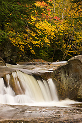 Screw Auger Falls in Maine's Grafton Notch State Park.  Fall. Bear River.
