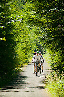 The ambitious, Trans Canada Trail, a 21,500 Kilometre recreation trail proposed across Canada follows an existing railway bed that winds itself through the scenic Cowichan Valley.  Cowichan Valley, Vancouver Island, British Columbia, Canada.