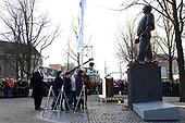 Koning Willem-Alexander bij herdenking van de Februaristaking