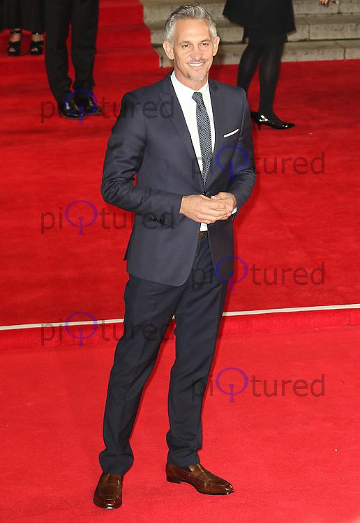 Gary Lineker, Bond: Spectre - World Premiere & Royal Film Performance, Royal Albert Hall, London UK, 26 October 2015, Photo by Richard Goldschmidt