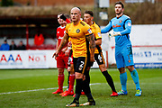 Newport County defender David Pipe (2)  during the EFL Sky Bet League 2 match between Accrington Stanley and Newport County at the Fraser Eagle Stadium, Accrington, England on 18 November 2017. Photo by Simon Davies.