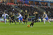 Bolton Wanderers midfielder Liam Feeney scores a penalty  during the Sky Bet Championship match between Reading and Bolton Wanderers at the Madejski Stadium, Reading, England on 21 November 2015. Photo by Mark Davies.