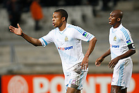 FOOTBALL - FRENCH LEAGUE CUP 2011/2012 - 1/8 FINAL - OLYMPIQUE MARSEILLE v RC LENS - 25/10/2011 - PHOTO PHILIPPE LAURENSON / DPPI - LOIC REMY (OM)