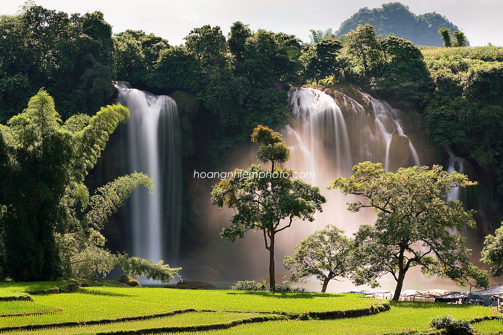 Vietnam Images-Landscape-Nature-BanGioc is the most beautiful waterfall of Vietnam. Cao Bang province North VietNam. phong cảnh việt nam