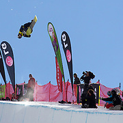 Taku Hiraoka, Japan, in action during the Men's Half Pipe Finals in the LG Snowboard FIS World Cup, during the Winter Games at Cardrona, Wanaka, New Zealand, 28th August 2011. Photo Tim Clayton..