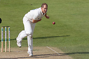 Neil Dexter bowling during the Specsavers County Champ Div 2 match between Durham County Cricket Club and Leicestershire County Cricket Club at the Emirates Durham ICG Ground, Chester-le-Street, United Kingdom on 18 August 2019.