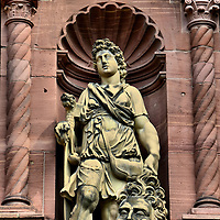 Heidelberg Castle David and Goliath Sculpture in Heidelberg, Germany <br />