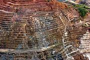 Iron ore strip mine, 20 miles southeast of Parque Nacional Motanhas do Tumucumaque, Brazil.