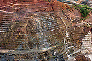 Iron ore strip mine, 20 miles southeast of Parque Nacional Motanhas do Tumucumaque, Brazil.