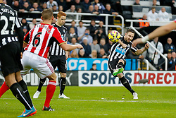 Paul Dummett of Newcastle United takeSunderland a free kick - Photo mandatory by-line: Rogan Thomson/JMP - 07966 386802 - 21/12/2014 - SPORT - FOOTBALL - Newcastle upon Tyne, England - St James' Park - Newcastle United v Sunderland - Tyne-Wear derby - Barclays Premier League.