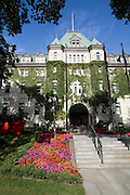 Québec city's city hall, the Hotel-de-Ville, in old Québec's upper town.