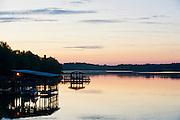 Fayetteville Arkansas stock photo at Lake Fayetteville.