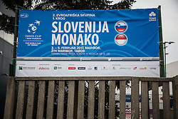 during Day 3 of the tennis matches between Slovenia and Monaco of 2017 Davis Cup Europe/Africa Zone Group II, on February 5, 2017 in Tennis Arena Tabor, Maribor Slovenia. Photo by Vid Ponikvar / Sportida