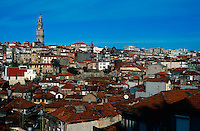 January 1998, Porto, Portugal --- Red-Roofed Buildings in Porto's Old Town --- Image by © Owen Franken/CORBIS