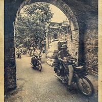 An old city gate , Hanoi, Vietnam