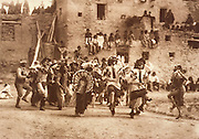 NATIVE AMERICANS E. Curtis photograph, early 20th century, Buffalo Dance at Hano