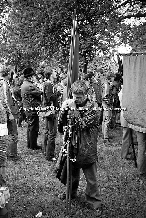 Trevor Deighton, Sogat, Peoples March for Jobs, Yorkshire and Liverpool to London. Letchworth 24/05/1981