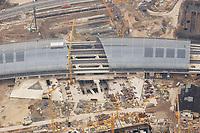 07 NOV 2002, BERLIN/GERMANY:<br /> Luftaufnahme, Bauarbeiten Lehrter Stadtbahnhof<br /> IMAGE: 20021107-02-003<br /> KEYWORDS: Neubau, Bau, Bahnhof