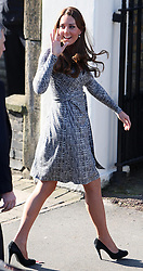 The Duchess of Cambridge arriving at Hope House in London, Tuesday, 19th February 2013  Photo by: i-Images