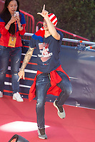 Atletico de Madrid Lucas Hernandez celebrating Europa League Championship at Neptune Fountain in Madrid, Spain. May 18, 2018. (ALTERPHOTOS/Borja B.Hojas)