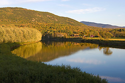 The Connecticut River in Guildhalll, Vermont.  Northumberland, New Hampshire is across the river.