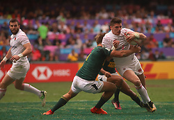 April 7, 2018 - Hong Kong, CHINA - England lost the game to South Africa in todays game at Hong Kong Rugby Sevens 2018 as international teams will be entering final match tomorrow. Apr-7,2018 Hong Kong.ZUMA/Liau Chung Ren (Credit Image: © Liau Chung Ren via ZUMA Wire)
