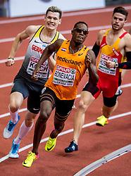 03-02-2017  SRB: European Athletics Championships indoor day 1, Belgrade<br /> In een lege Kombank Arena wordt de eerste dag van het Europees Kampioenschap gehouden / Liemarvin Bonevacia, 400 m
