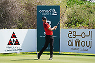 Niklas Lemke (SWE) on the 3rd during Round 2 of the Oman Open 2020 at the Al Mouj Golf Club, Muscat, Oman . 28/02/2020<br /> Picture: Golffile | Thos Caffrey<br /> <br /> <br /> All photo usage must carry mandatory copyright credit (© Golffile | Thos Caffrey)