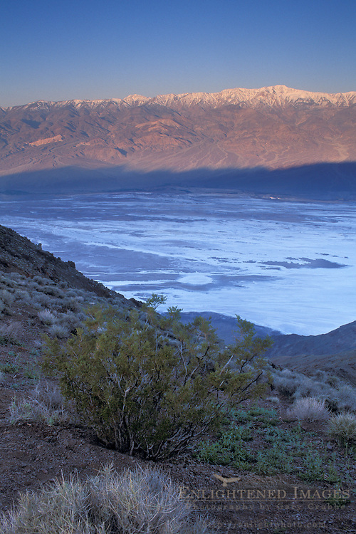 Sunrise on Panamint mountains over salt basin, from Dantes View, Death Valley National Park, California