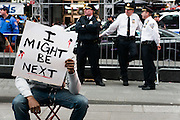 Dec. 1, 2014 - Manhattan, NY. Protestors took to Times Square to protest the two grand jury decisions not to indict police officers who killed unarmed black men while on the job . 12/1/14 Photograph by Julius Constantine Motal/NYCity Photo Wire