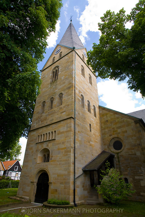 Europe, Germany, North Rhine-Westphalia, Ruhr area, Dortmund, St.-Remigius church in the old part of Dortmund-Mengede.....Europa, Deutschland, Nordrhein-Westfalen, Ruhrgebiet, Dortmund, St.-Remigius-Kirche im alten Ortsteil von Dortmund-Mengede.....[For each usage of my images the General Terms and Conditions are mandatory.]