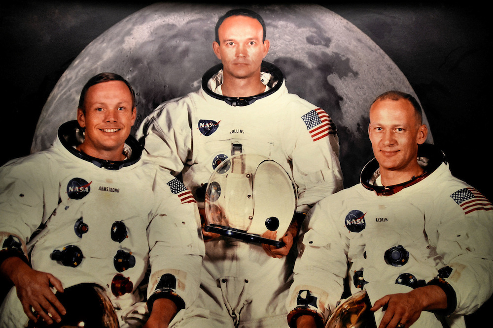 Apollo 11 Crew as First Men on the Moon at Johnson Space Center in Webster, Texas<br />